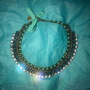 Beautiful Rhinestone & Ribbon Necklace